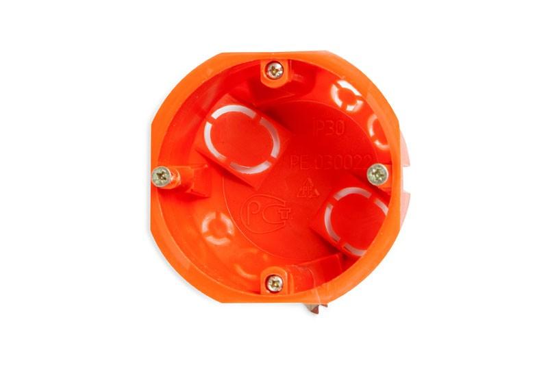 PlastElectro PE 030 022 Коробка установочная круглая, для полых стен, крепежные металлические лапки, IP20, D68х50