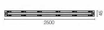 AXELENT X-TRAY 2266-45 Перегородка I-образная X66<img style='position: relative;' src='/image/only_to_order_edit.gif' alt='На заказ' title='На заказ' />