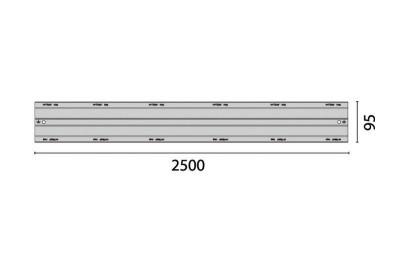AXELENT X-TRAY 2266-95 Перегородка I-образная X66<img style='position: relative;' src='/image/only_to_order_edit.gif' alt='На заказ' title='На заказ' />
