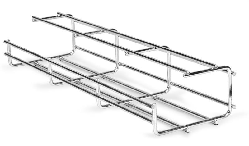 AXELENT X-TRAY 1121 Проволочный лоток G-образный шириной 100 мм, высотой 60 мм, оцинковано-хромированный, для внутренних работ (для помещений) (2.5 м)