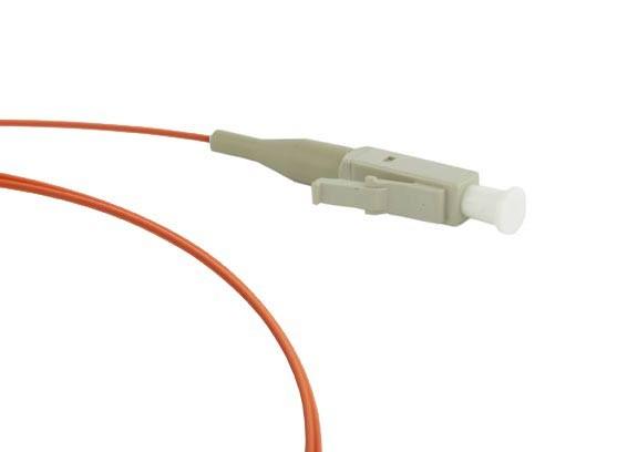 Hyperline FPT-B9-62-LC/ PR-1M-LSZH-OR Пигтейл волоконно-оптический MM 62.5/ 125, LC, 1 м, LSZH