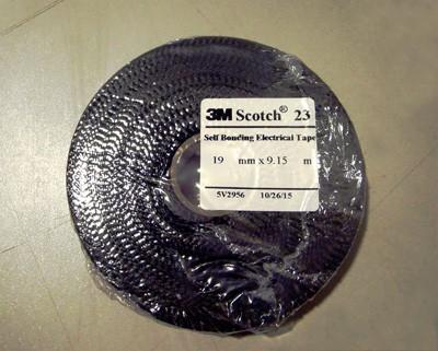 3M 7000034804 (HC000588810) Scotch 23 Самослипающаяся резиновая изоляционная лента, черная, 19мм х 9.15м