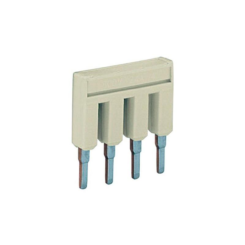 WAGO 2004-402 Блок перемычек безвинтовых, 2 полюса, 32 А, для трёхпроводных клемм 4 кв. мм