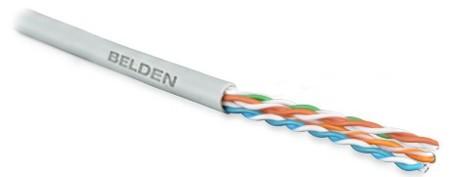 Belden 1583E.00U305 UTP (305 м) Кабель витая пара, неэкранированная U/ UTP, категория 5e, 4 пары (24 AWG), одножильный (solid), PVC, -30°С - + 60°С, серый (коробка)