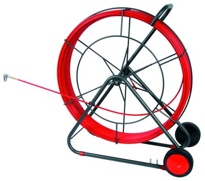 DKC / ДКС 59103 Устройство многоразовое для протяжки кабеля УЗК на вращ. барабане, стекловолокно, резьба наконечника М12, 250м (диаметр прутка с оболочкой 11, 0мм)