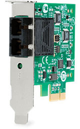 Allied Telesis 100Mbps Fast Ethernet PCI-Express Fiber Adapter Card; SC connector
