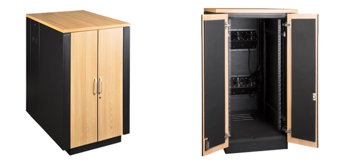 шкаф LANMASTER Soundproof высотой 24U с шумоподавлением