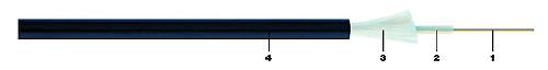Belden Кабель волоконно-оптический 9/ 125 (G652D) одномодовый, 4 волокна, central loose tube, гелиевый, с защитой от грызунов (стекловолокно или нейлон), для внешней прокладки, PE, -30°C - +70°C, черный