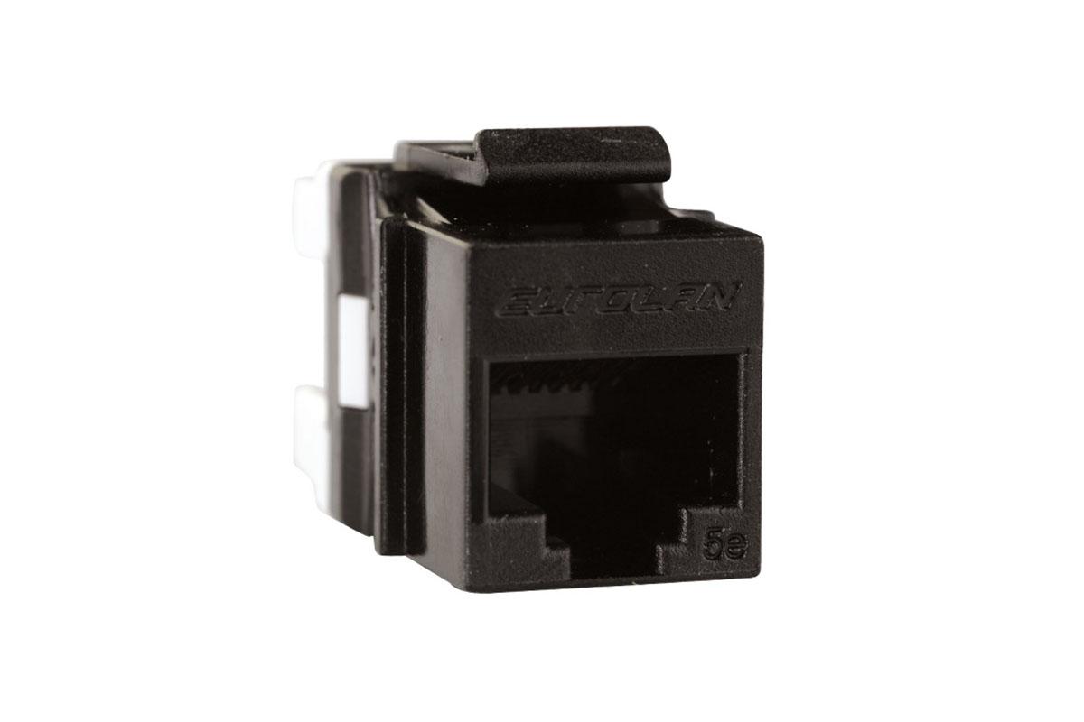 Eurolan Розеточный модуль Keystone кат. 5e, UTP, 1xRJ45, T568A/ B, черный