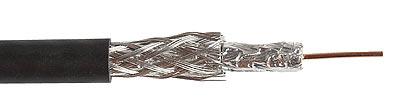Belden Кабель коаксиальный RG-59, 75 Ом, 20 AWG (0, 81 мм, омедненная сталь, одножильный), двухслойный экран (100% + 67%), PVC