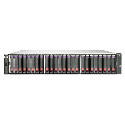 HP P2000 G3 FC MSA DC с 24 жесткими дисками 6G SAS емкостью 600 ГБ, 10000 об/ мин, малый типоразмер, 14, 4 ТБ (комплект)