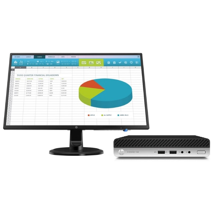 Компьютер с монитором HP Bundle ProDesk 400 G4 Mini