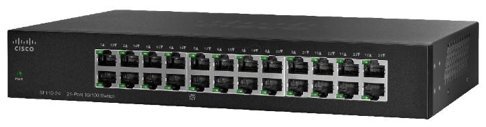 Cisco Коммутатор 4-портовый SF110-24 24-Port 10/ 100 Switch