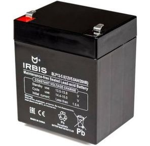 IRBIS VRLA-AGM battery general purpose/ for UPS - BLP12-5.0, 12V/ 5AH, F2 terminal