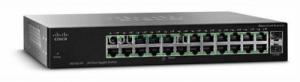 Коммутатор 24-портовый, гигабитный Cisco SG112-24 COMPACT 24-port Gig Switch-2 Mini-GBIC Ports
