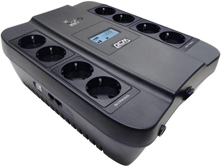 ИБП Powercom Back-UPS SPIDER, Line-Interactive, LCD, AVR, 900VA/ 540W