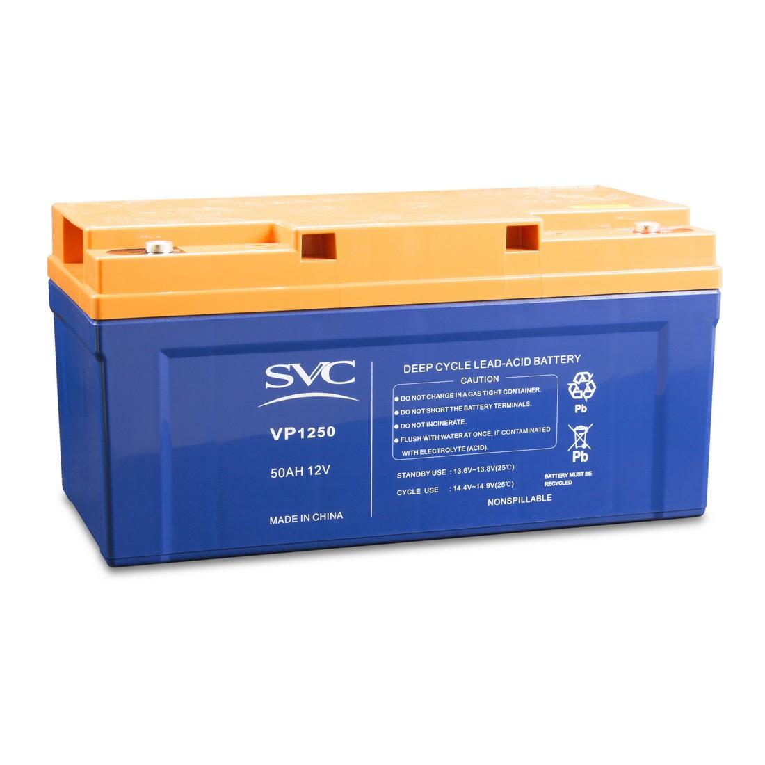 Батарея свинцово-кислотная SVC 12В 50 Ач