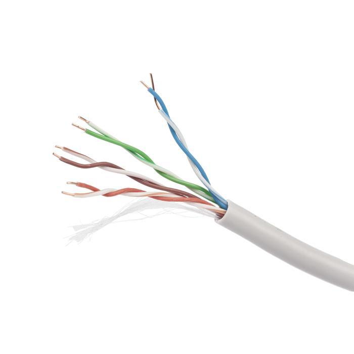 Кабель Caplex DATAREX cat 6 4 пары 23 AWG UTP PVC (внутренний), серый, катушка 305 м