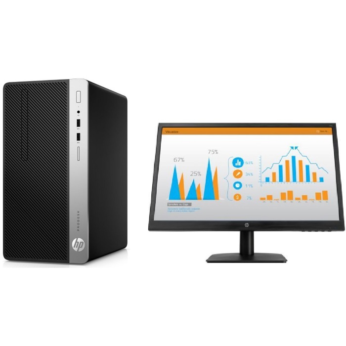 Компьютер с монитором HP Bundle ProDesk 400 G5 MT
