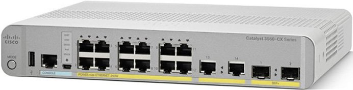 WS-C3560CX-12PC-S Маршрутизатор Cisco Catalyst 3560-CX 12 Port PoE IP Base