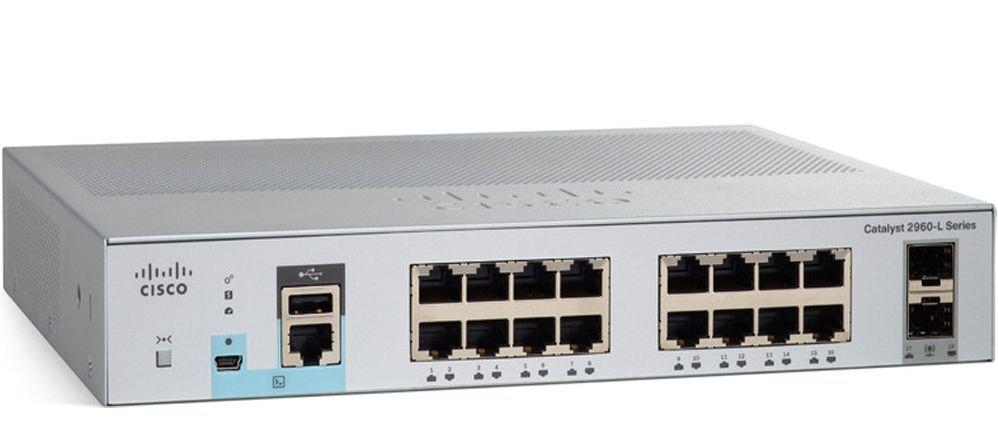 Cisco WS-C2960L-16TS-LL Коммутатор Catalyst 2960L 16 port GigE, 2 x 1G SFP, LAN Lite