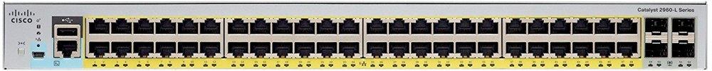 Cisco WS-C2960L-48PS-LL Коммутатор Catalyst 2960L 48 port GigE with PoE, 4 x 1G SFP, LAN Lite