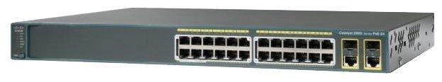 Cisco WS-C2960R+24PC-L Коммутатор Catalyst 2960Plus 24 10/ 100 PoE+2 T/ SFP LAN Base, Russia