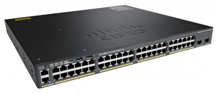 Cisco WS-C2960XR-48LPD-I Коммутатор Catalyst 2960-XR 48 GigE PoE 370W, 2 x 10G SFP+, IP Lite