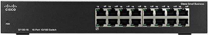 Коммутатор Cisco 16-портовый SF110-16 16-Port 10/ 100 Switch