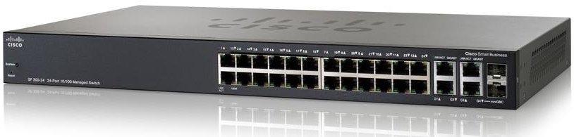 Cisco Коммутатор 24-портовый SF300-24PP 24-port 10/ 100 PoE+ Managed Switch w/ Gig Uplinks<img style='position: relative;' src='/image/only_to_order_edit.gif' alt='На заказ' title='На заказ' />