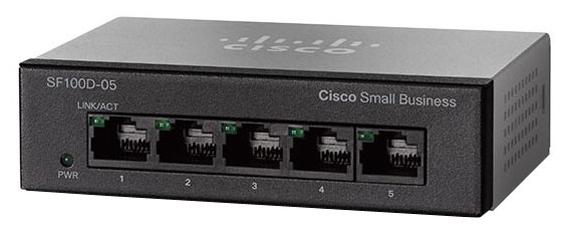Cisco Коммутатор 5-портовый SF110D-05 5-Port 10/ 100 Desktop Switch