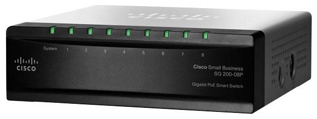 CISCO SB SG 200-08P 8-портовый коммутатор Gigabit PoE Smart Switch<img style='position: relative;' src='/image/only_to_order_edit.gif' alt='На заказ' title='На заказ' />