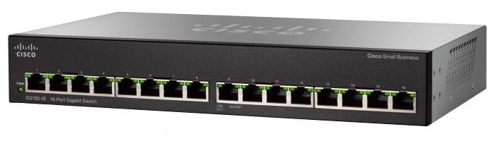 Cisco Коммутатор 16-портовый SG110-16HP 16-Port PoE Gigabit Switch