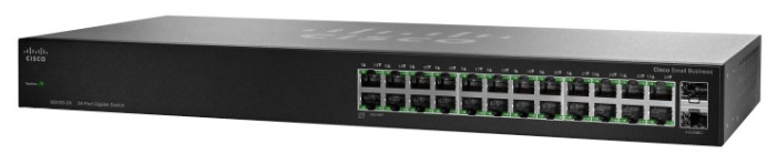 Cisco  Коммутатор 24-портовый SG110-24HP-EU 24-Port PoE Gigabit Switch