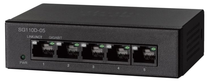 Cisco  Коммутатор 5-портовый SG110D-05 5-Port Gigabit Desktop Switch