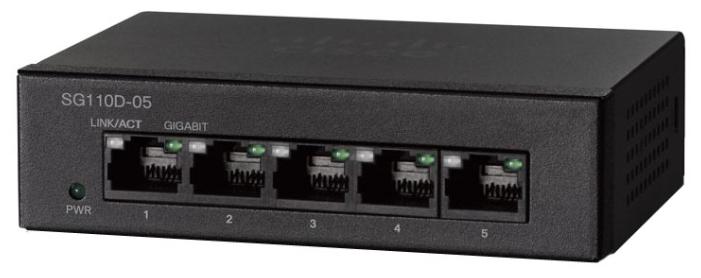 Cisco Коммутатор 5-портовый SG110D-05 5-Port Gigabit Desktop Switch