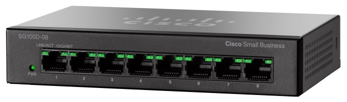 Cisco  Коммутатор 8-портовый SG110D-08HP 8-Port PoE Gigabit Desktop Switch