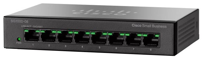 Cisco Коммутатор 8-портовый SG110D-08HP 8-Port PoE Gigabit Desktop Switch