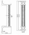 Eurolan Кроссовая панель типа 110, кат. 5e, 50 пар, на ножках