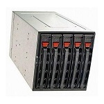 Supermicro Mobile Rack CSE-M35TQB (Black) SAS/ SATA, 3x5, 25