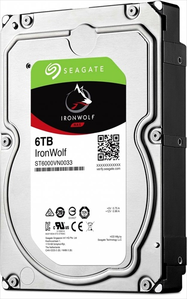 HDD SATA-III Seagate 6000Gb, ST6000VN0033, IronWolf Guardian NAS, 7200 rpm, 256Mb buffer (аналог ST6000VN0041)