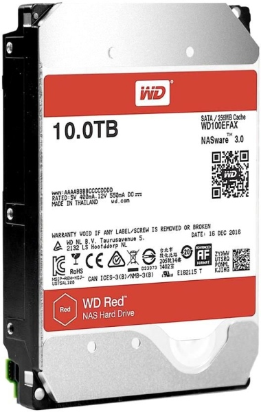 Western Digital HDD SATA-III 10000Gb Red for NAS WD100EFAX, IntelliPower, 256MB buffer<img style='position: relative;' src='/image/only_to_order_edit.gif' alt='На заказ' title='На заказ' />