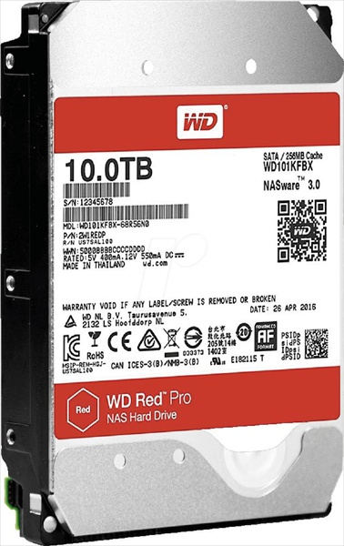Western Digital HDD SATA-III 10000Gb Red™ Pro WD101KFBX, 7200rpm, 256MB buffer