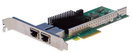 Silicom PE310G2i50-T Dual Port Copper 10 Gigabit Ethernet PCI Express Server Adapter X4 Gen 3.0, Based on Intel X550-AT2, RoHS compliant (analog X550T2)