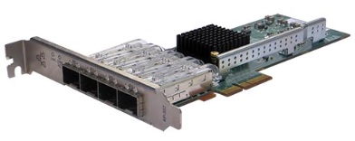 Silicom PE2G4SFPI35L-SX Quad Port SFP (SX) Gigabit Ethernet PCI Express Server Adapter X4, Based on Intel i350AM4, RoHS compliant <img style='position: relative;' src='/image/only_to_order_edit.gif' alt='На заказ' title='На заказ' />