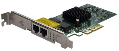 Silicom PE2G2I35 Dual Port Copper Gigabit Ethernet PCI Express Server Adapter X4, Based on Intel i350AM2, Low-Profile, RoHS compliant (analog I350T2V2)