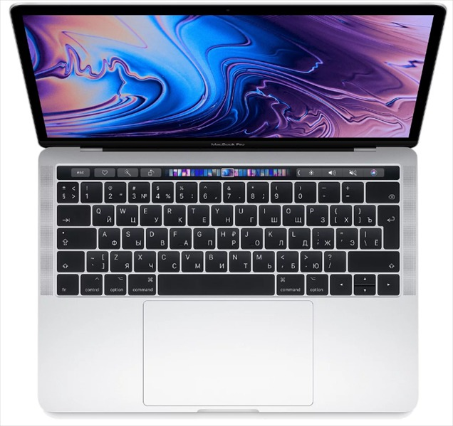 Apple 13-inch MacBook Pro, Touch Bar: 8-gen Intel i5 Q-core 2.3(up to 3.8)GHz, 8GB, 512GB SSD, Intel Iris Plus 655, Silver