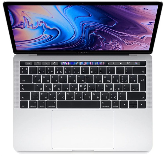 Apple 13-inch MacBook Pro, Touch Bar (2019), 2.4GHz quad-core 8thgen. Intel Core i5 TB up to 4.1GHz, 8GB, 512GB SSD, Intel Iris Plus Graphics 655, Silver