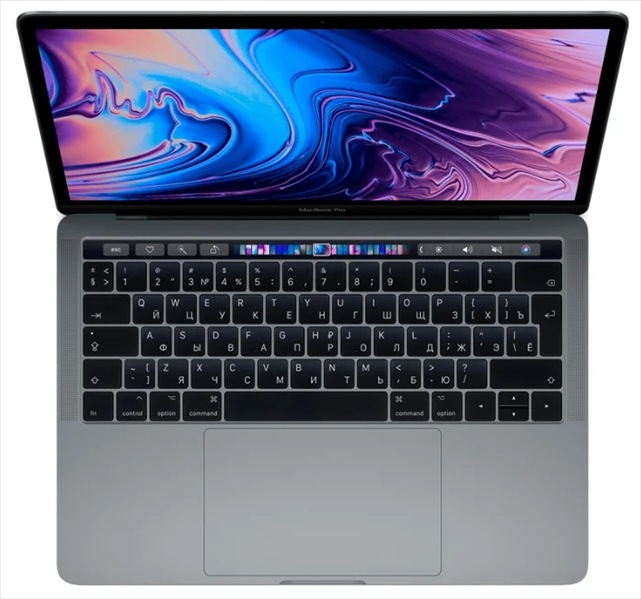 Apple 13-inch MacBook Pro, Touch Bar (2019), 2.4GHz Q-core 8thgen. Intel Core i5 TB up to 4.1GHz, 16GB, 256GB SSD, Intel Iris Plus 655, Space Gray (mod.Z0WQ0008X;Z0WQ/ 4), rep.Z0V7000L5
