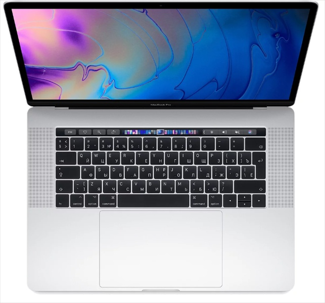 Apple 15-inch MacBook Pro, Touch Bar (2019), 2.6GHz 6-core 9th-gen. Intel Core i7 TB up to 4.5GHz, 16GB, 256GB SSD, Radeon Pro 555X - 4GB, Silver (rep. MR962RU/ A)